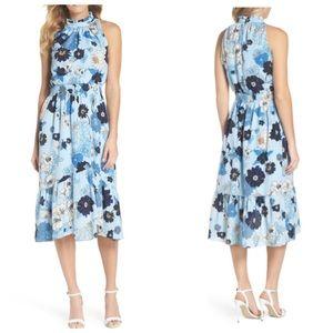 Vince Camuto Floral Blouson Midi Dress